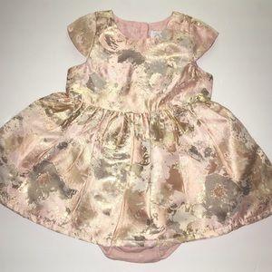 Girl's Peach Dress Children's Place Size 9-12m